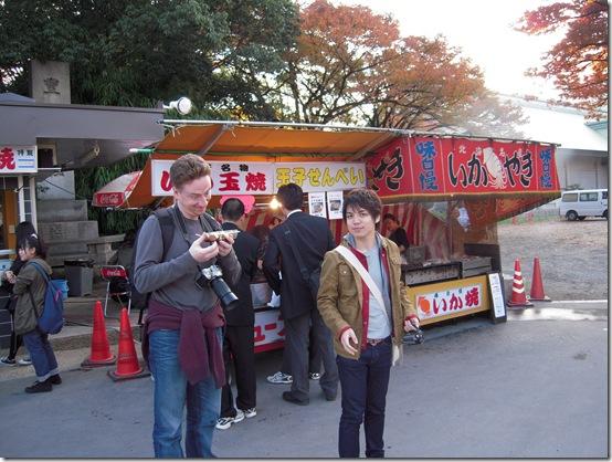 Масаси-сан угостил осьминогом