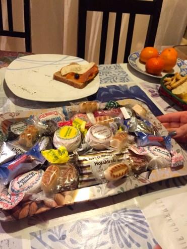 Dulces navideños--typical Spanish holiday treats.