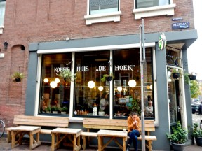 Koffie Huis de Hoek, the adorable café a few steps off from the canal that we had been wandering down.