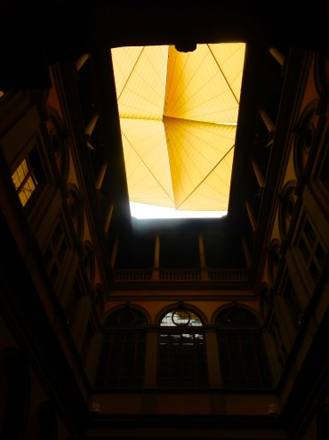 Open ceiling of the Palazzo Strozzi