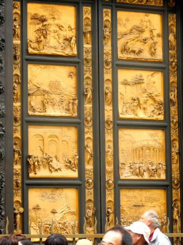 """These were dubbed """"The Gates of Paradise"""" by Michelangelo for their beauty--ie fit for heaven."""