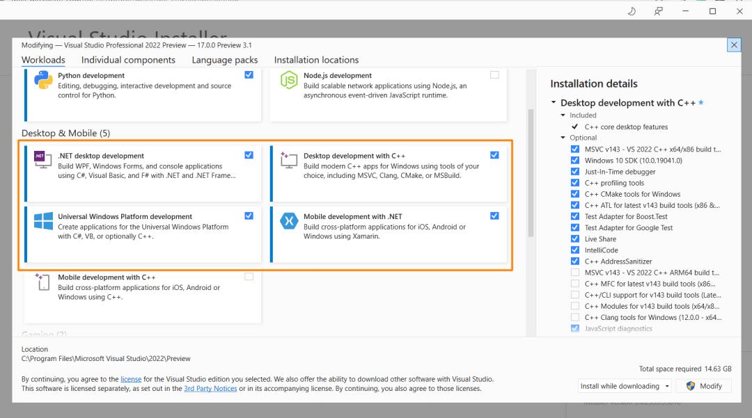 .NET 6 MAUI Workloads