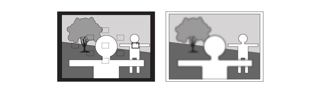Seleccionar el punto de enfoque más conveniente. Aprender fotografía.