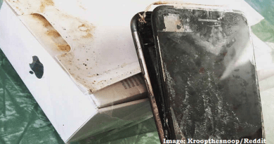 iPhone 7 Plus Battery Alleged Explosion during Transit