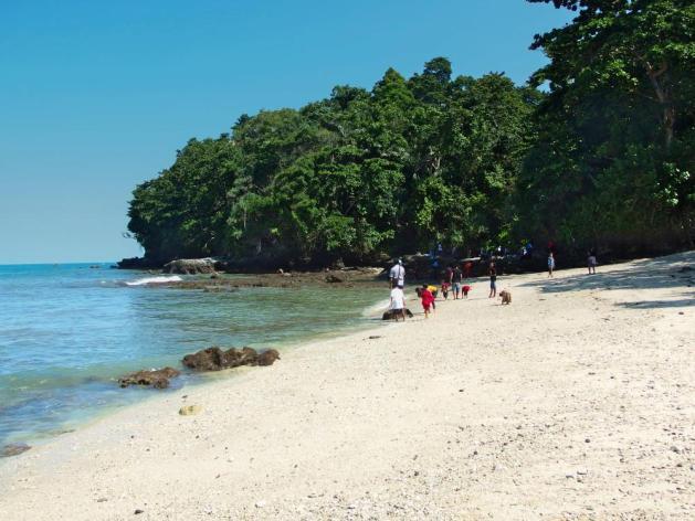 Pantai Cilacap - Salah satu dari 3 pantai populer di Pulau Nusa Kambangan Cilacap.
