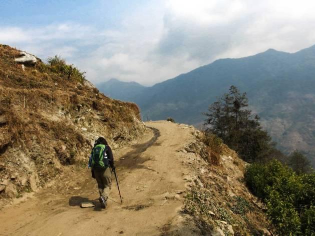 Jalur Trek dari Kimche ke Ghandruk