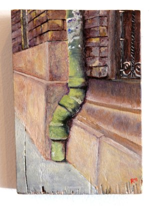 Green Down Pipe, Budapest, SOLD