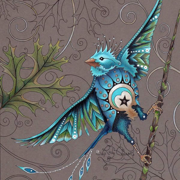 Little Bird Illustration by Ruby Charm Colors ((c) by Susan Carlson, 2017)
