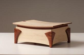 jointworks studio - ruby coast arts-maple and bubinga jewellery box