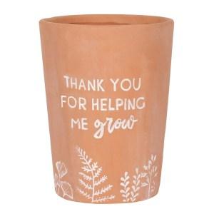 Thank You For Helping Me Grow Teacher Terracotta Plant Pot
