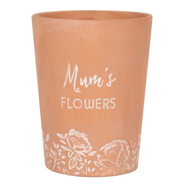 Mums Flowers Terracotta Plant Pot