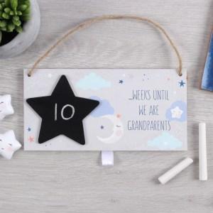 Grandparents Baby Countdown Plaque