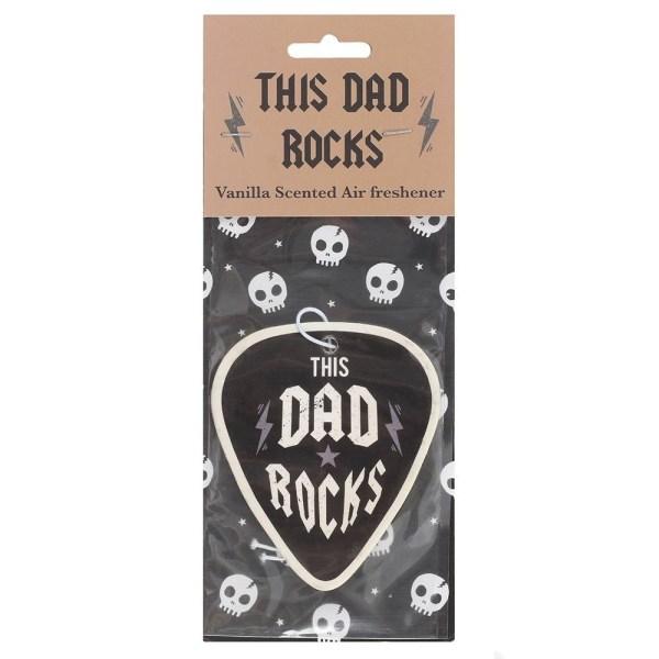 Dad Rocks Vanilla Scented Car Air Freshener