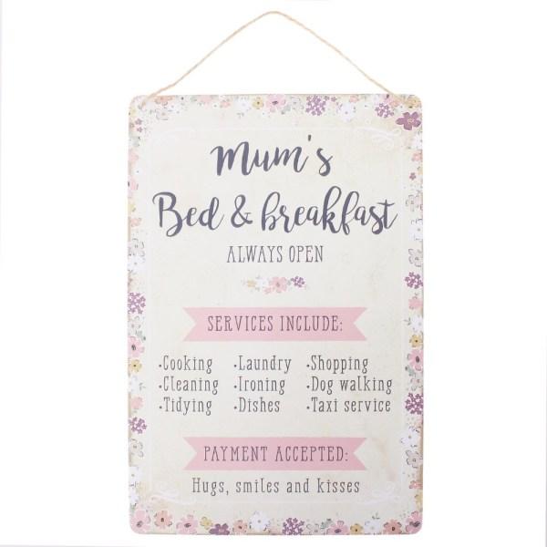 Mums Bed & Breakfast Hanging Plaque