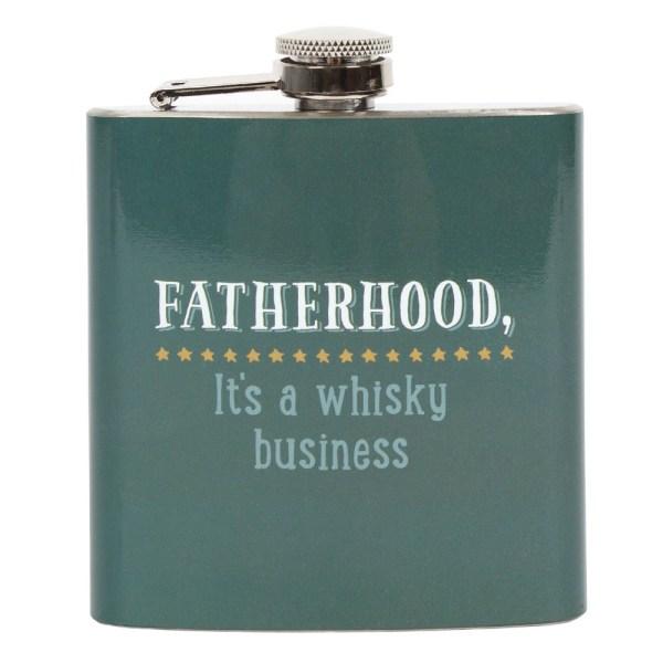 Fatherhood Whiskey Hip Flask