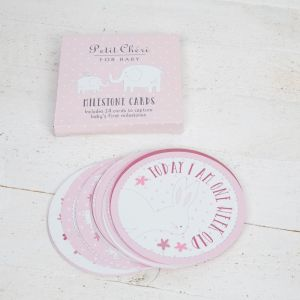 Pink Baby Milestone Cards for a Girl