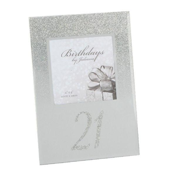 21st Birthday Glitter Mirror Frame