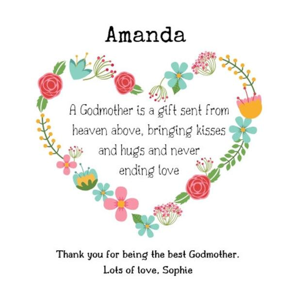Personalised Thank You Godmother Frame