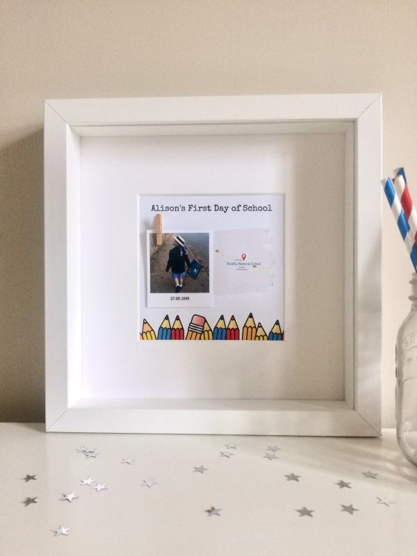 First Day Of School Personalised Frame