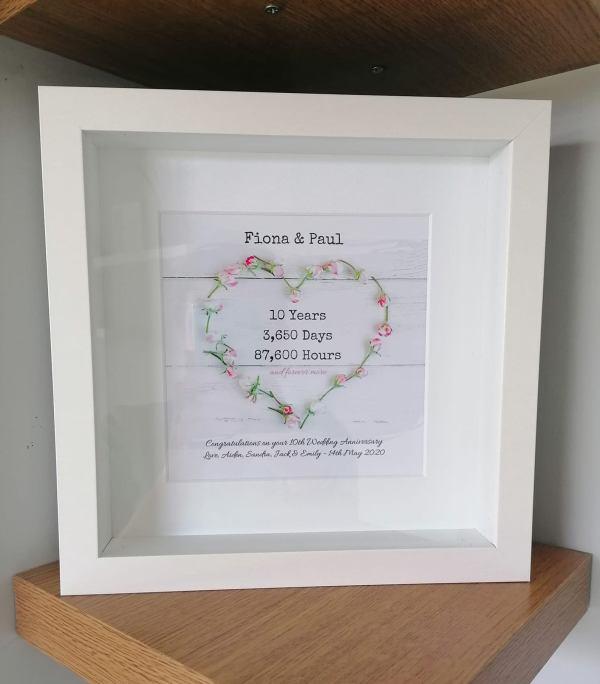 Personalised Wedding Anniversary Frame