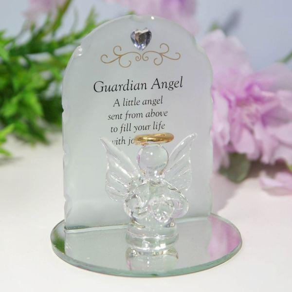 Guardian Angel Glass Memorial Ornament