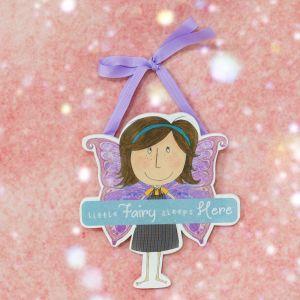 Little Fairy Sleeps Here Hanging Plaque