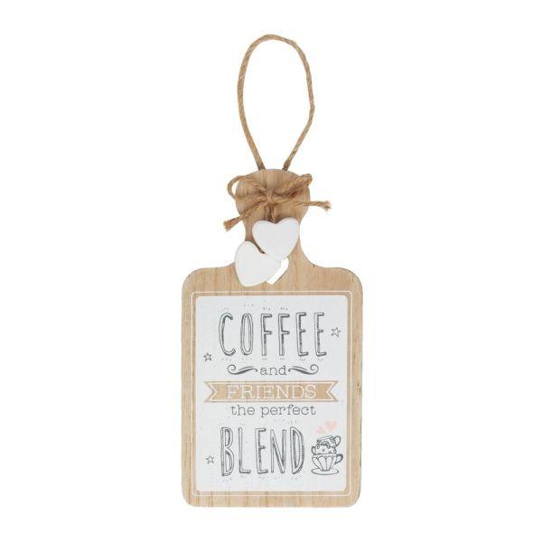 Coffee & Friends Hanging Plaque