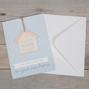Home Sweet Home Greeting Card with Plaque
