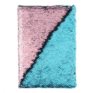 A5 Pink and Blue Reversible Sequin Notebook