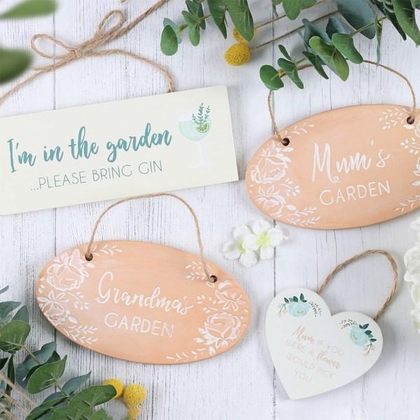 Mum's Garden Terracotta Plaque