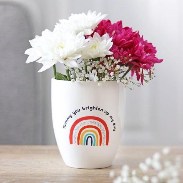 Sunny Mummy Rainbow Ceramic Plant Pot