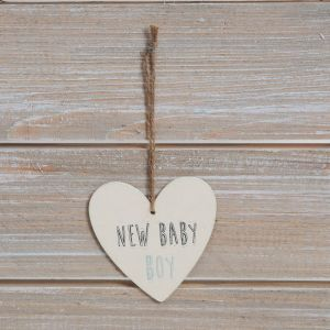 New Baby Boy Greeting Card with Plaque