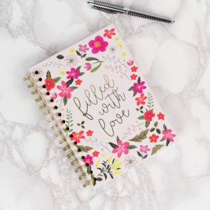 Garden Mums A5 Spiral Notebook