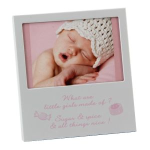Baby Girl Aluminium Photo Frame