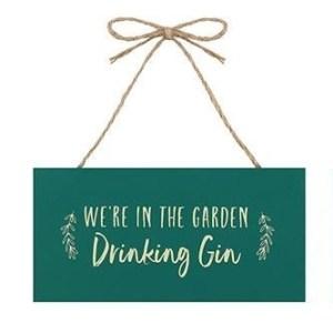 In The Garden Drinking Gin Plaque