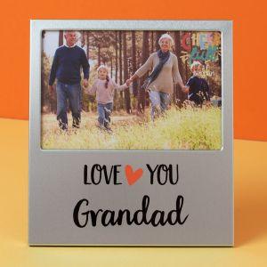 Love You Grandad Aluminium Photo Frame