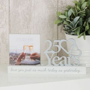 25 Years Anniversary Cut Out Photo Frame