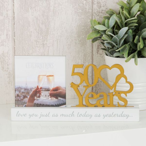 50 Years Anniversary Cut Out Photo Frame
