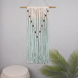 Green and Cream Fabric Wall Hanging