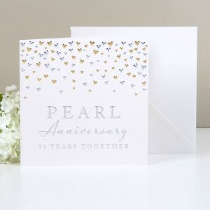 Deluxe Pearl Anniversary Card