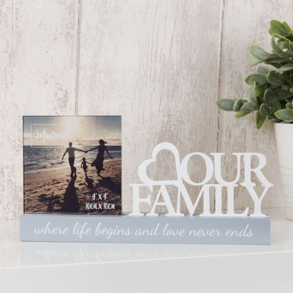Our Family Cut Out Photo Frame