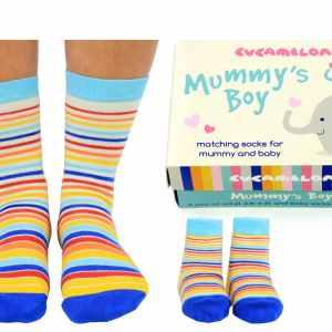 Mummys Boy Matching Socks Gift Set