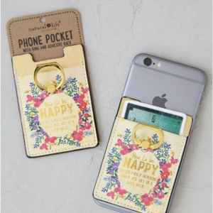 How To Be Happy Mobile Phone Pocket & Ring