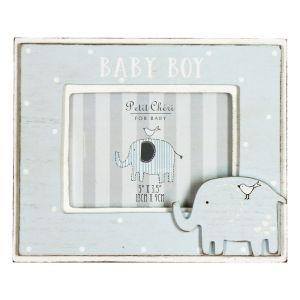 Blue Baby Boy Elephant Photo Frame