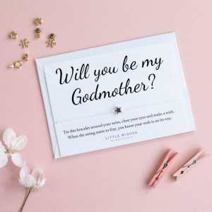 Will You Be My Godmother Wish Bracelet Card