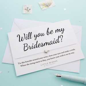 Will You Be My Bridesmaid Wish Bracelet Card