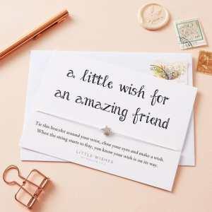 Amazing Friend Wish Bracelet Card