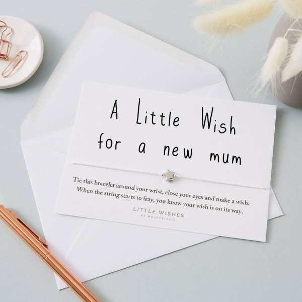 New Mum Wish Bracelet Card