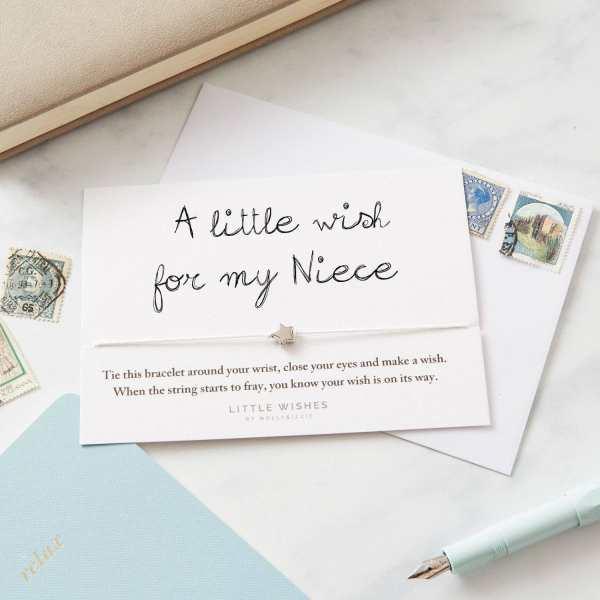 Niece Wish Bracelet Card