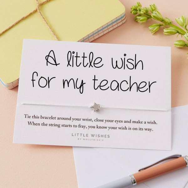 Teacher Wish Bracelet Card